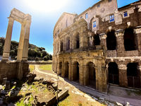 Theatre of Marcellus in Rome on a sunny spring day