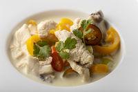 thai tom kha gai Suppe mit Zitrone