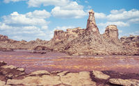 Rock city in Danakil depression, Ethiopia, Africa