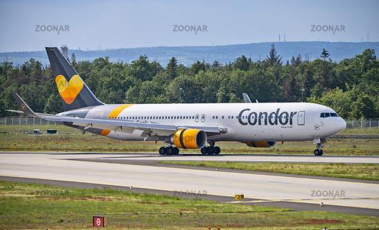 Airplane of Condor at Frankfurt airport