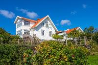 Haus auf der Insel Dyrön in Schweden