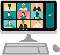 Computer Video Conference Vector