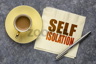 self isolation word abstract