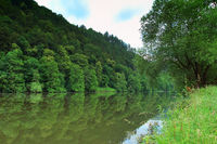 Landscape on the river Neckar
