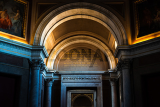 rches in the Vatican corridors in Rome