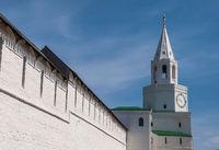 Spasskaya tower and walls of the Kazan Kremlin