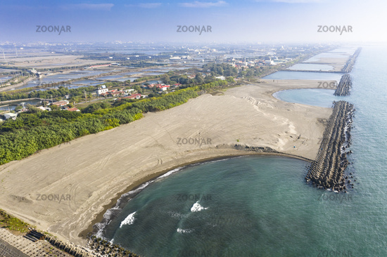 Aerial View - Taiwan  west  Coast