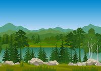 Seamless Mountain Landscape
