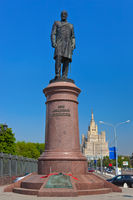 Statue of Stolypin near White House in Moscow Russia