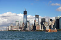 Regular ferry service between New York City - Manhattan and Staten Island