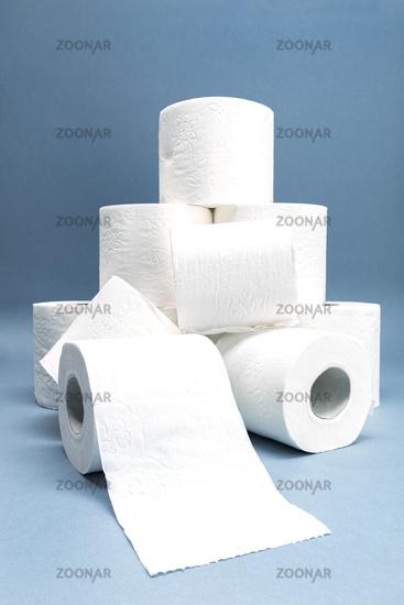 Pile of White Toilet Paper