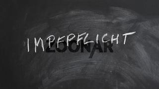 Impfpflicht translates as compulsory vaccination in German