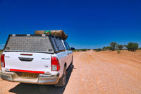 Self driving with roof tent in Namibia