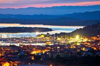Murter island. Colorful Murter archipelago sunset, tourist sailing destination in Dalmatia,