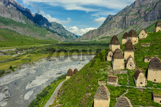 Dead Town Dargavs In North Ossetia
