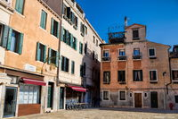 Venice, Italy - 03/20/2019 - idyllic campo san stin