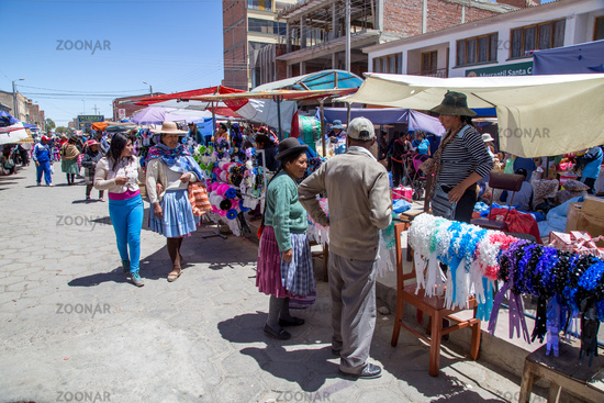 Local Market in Uyuni, Bolivia