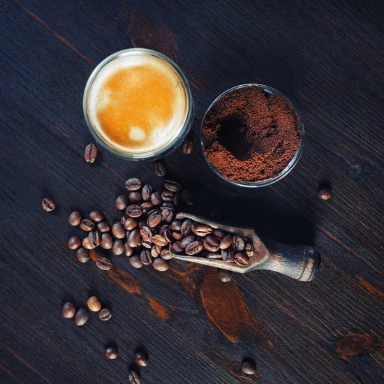Espresso, coffee beans