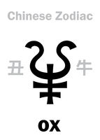Astrology: OX / COW, BULL (sign of Chinese Zodiac)