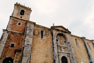 The church of the small town of Isla in Cantabria