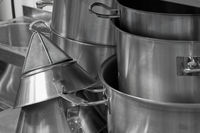 steel kitchenware