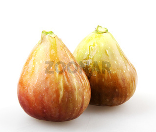 Close-Up Of Fig Against White Background