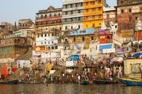 Colorful Ghats in Varanasi, India
