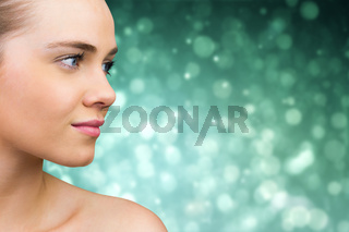 Composite image of smiling blonde natural beauty