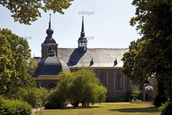 Abbey church of Kamp monastery, Kamp Lintfort, Lower Rhine, Ruhr area, Germamy, Europe