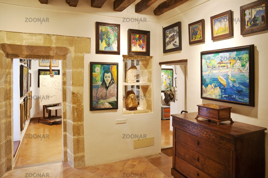 Interior view of the Museum of the Fundación Dionís Bennàssar, Pollenca, Mallorca, Spain, Europe
