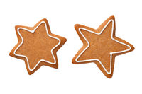 Star Gingerbread Cookies Isolated On White Background
