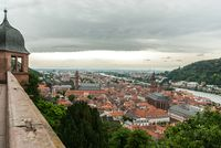 View over the old city center of Heidelberg and river Neckar