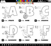 educational alphabet letters coloring book for children