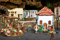 Christmas Belen -  Life of old town in miniature