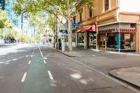 Melbourne's Bourke St is Quiet during the Coronavirus Pandemic