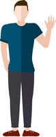 Man Waving Vector