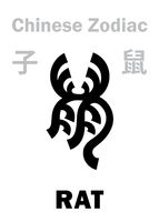 Astrology: RAT / MOUSE (sign of Chinese Zodiac)