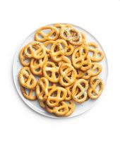 Crispy salted pretzels.