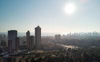 Aerial image Benidorm cityscape. Costa Blanca, Spain