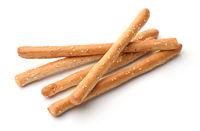 Fresh baked Italian grissini breadsticks