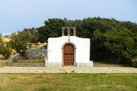 Small chapel Ermita de Santa Clara above Valhermoso on the island La Gomera