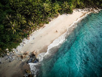 Beach at El Nido, The Philippines - Aerial Photograph