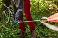 Child practices slacklining in nature
