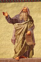 Mosaic of the Prophet Daniel in the facade of Basilica of Saint Paul outside the walls. Rome