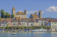 Rapperswil on Lake Zurich with Castle and Church St. Johannes