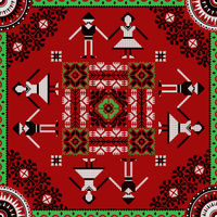 Romanian traditional pattern 219