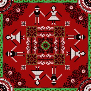 Romanian traditional pattern 219