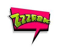Comic text zzzrak, zzz, logo sound effects