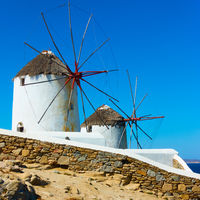 Windmills by the sea