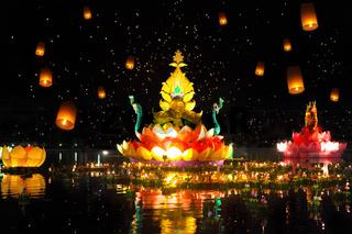 Thailands traditional Loy Krathong Festival